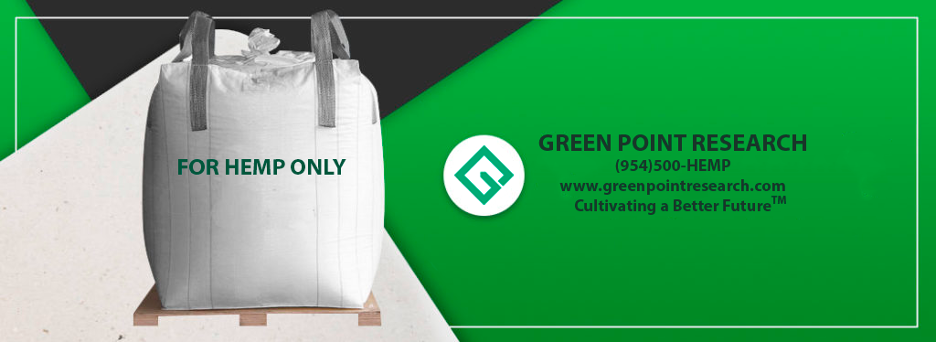 Green Point Research and Palmetto Industries Industry Standard Hemp Bags